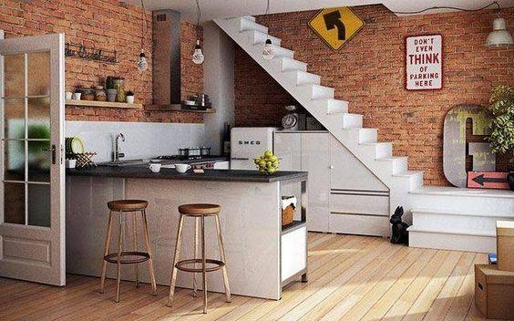 ý tương thiết kế nội thất nhà bếp cho không gian nhỏ