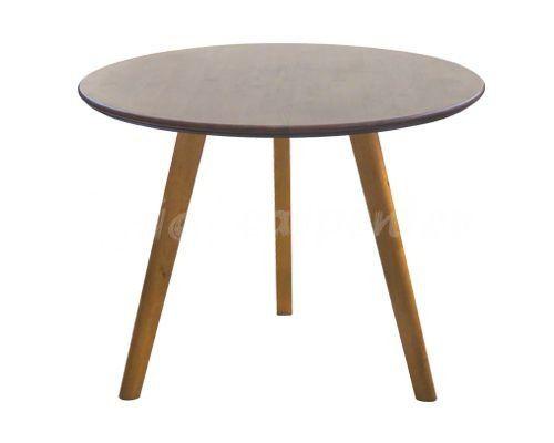 bàn ăn mặ tròn gỗ tự nhiên màu nâu vba 06