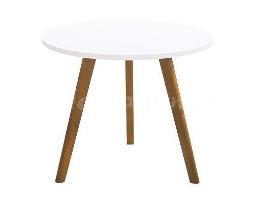 bàn ăn tròn gỗ hiện đại thiết kế theo tông trắng