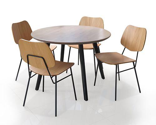 bộ bàn ăn gia đình 4 người chất liệu gỗ tự nhiên