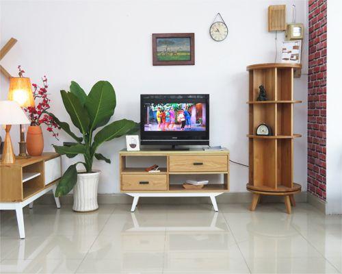 kệ tivi gỗ tự nhiên phong cách cổ điển siêu đẹp ấn tượng