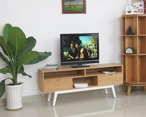 kệ tivi gỗ sồi đẹp hiện đại dài 1.6m