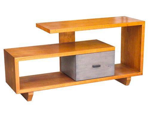 mẫu kệ tivi phòng khách nhập khẩu chất liệu gỗ linga