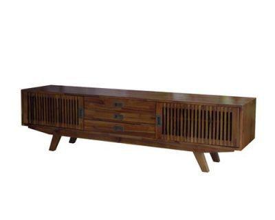mẫu kệ tivi phòng khách chất liệu gỗ tự nhiên