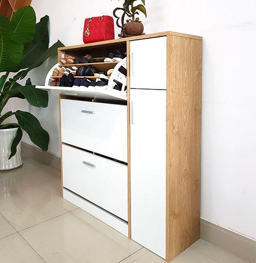 mẫu tủ giầy dép chất liệu gỗ mfc thiết kế siêu thông minh với giá siêu rẻ