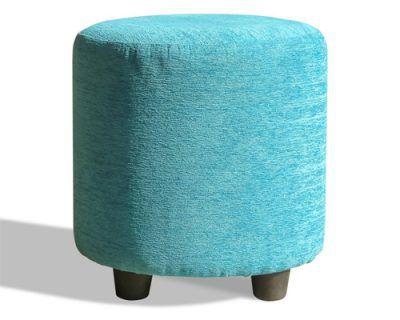 ghế đôn sofa hình trụ chất liệu nệm bọc vải nhung rất phù hợp phòng cách quán cafe nhà hàng giá rẻ màu xanh da trời