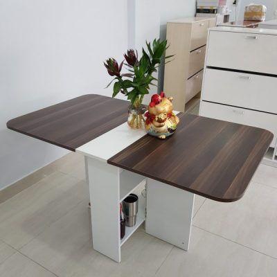 bàn ăn thông minh màu nâu vba-09