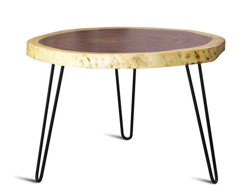 bàn trà sofa tiếp khách đẹp hiện đại sự kết hợp chân sắt và mặt bàn bằng gỗ tự nhiên