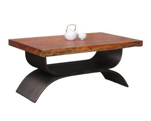 bàn trà uống nước mặt gỗ tự nhiên chân sắt nghệ thuật decor theo phong cách mới lạ cao cấp cho phòng khách nên kết hợp với sofa cổ điển hoặc bán cổ điển