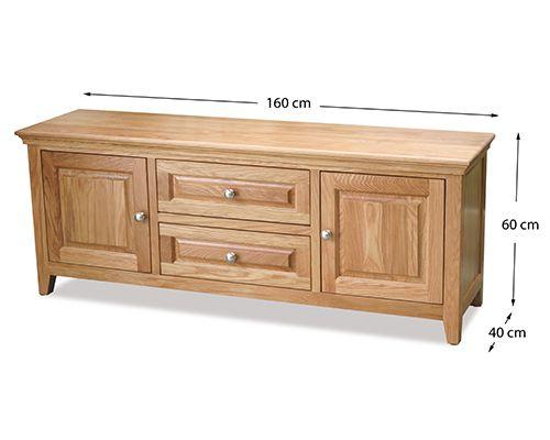 kệ tivi gỗ sồi chất liệu gỗ tự nhiên kích thước dài 1.6m