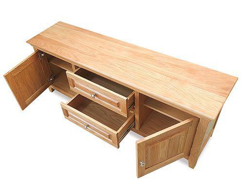 tủ tivi đẹp hiện đại gỗ tự nhiên là sồi
