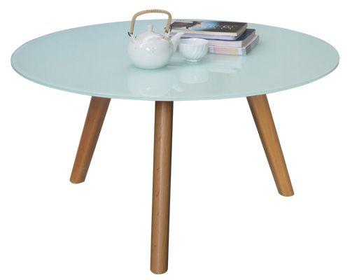 bàn sofa tròn mặt kính hiện đại