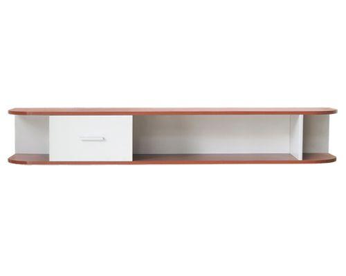 kệ tivi treo tường chất liệu gỗ kết hợp gắn tường làm vẻ đẹp thanh mảnh cho không gian
