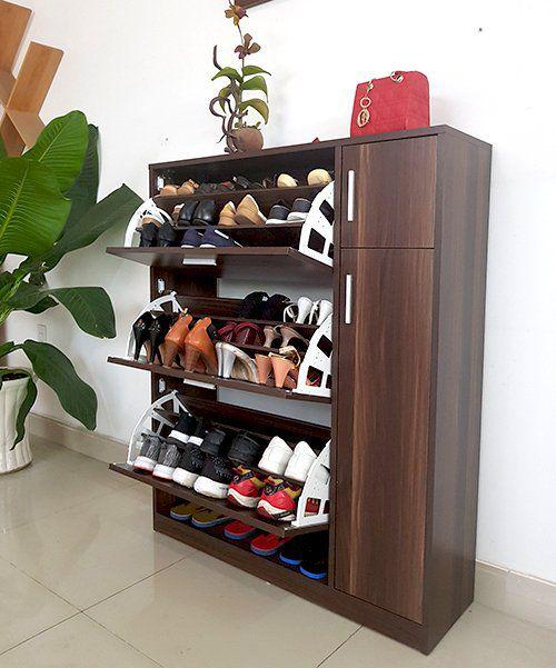mẫu tủ giày gỗ đẹp xu hướng mới hiện đại của công ty vietcarpenter