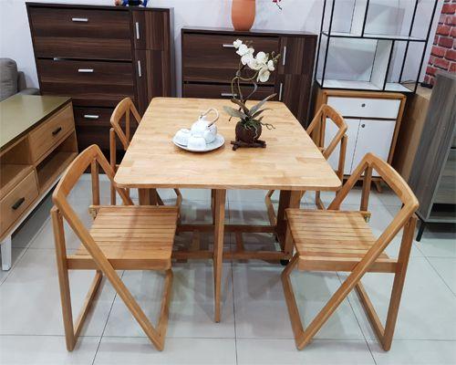 bàn đa năng xếp gọn thông minh chất liệu gỗ tự nhiên dùng làm bàn ăn kết hợp bàn học