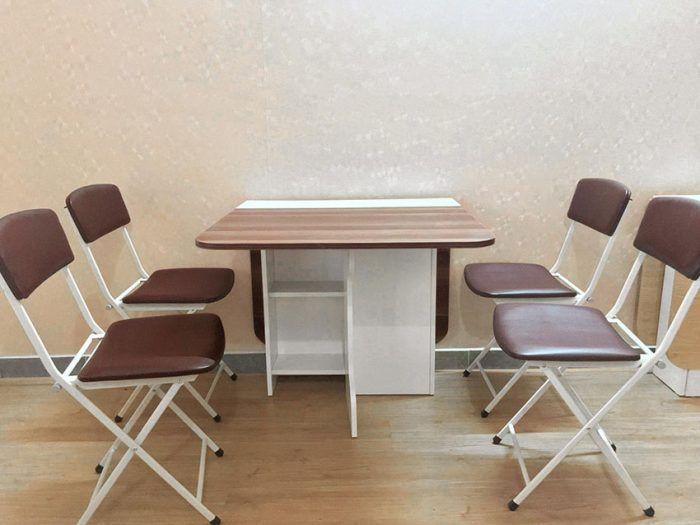 bàn học 4 ghế xếp gọn giá rẻ