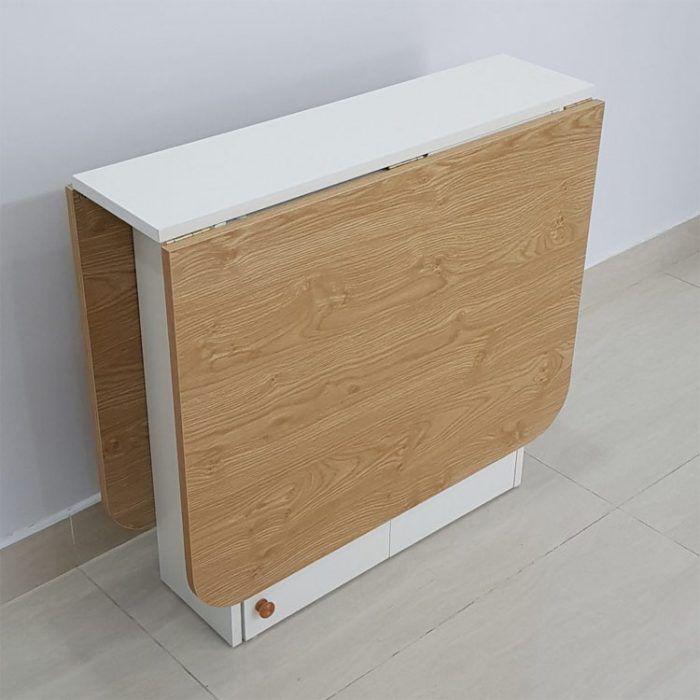 bàn làm việc có thể xếp gọn 1 góc làm kệ trang trí