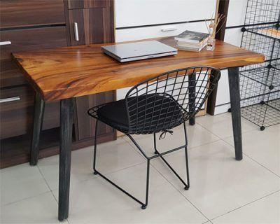 bàn làm việc gỗ nguyên tấm cao cấp