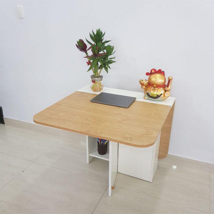 bàn làm việc xếp gọn 4 người ngồi