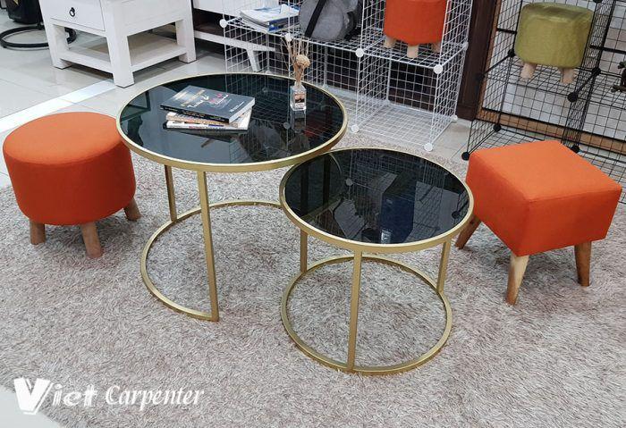 bàn trà sofa đôi siêu đẹp mặt kính được nhập khẩu thiết kế theo phong cách hiện đại cho không gian phòng khách rât nghệ thuật