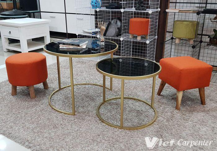 bàn trà sofa tròn nhập khẩu giá rẻ phong cách hiện đại siêu đẹp