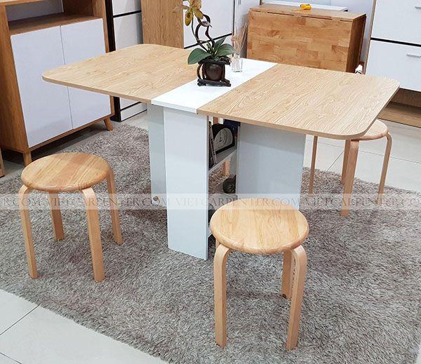 Bộ bàn ăn thông minh 4 ghế xếp gọn vba-11